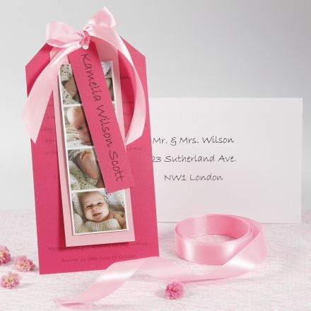 An Invitation for a Christening with Photos
