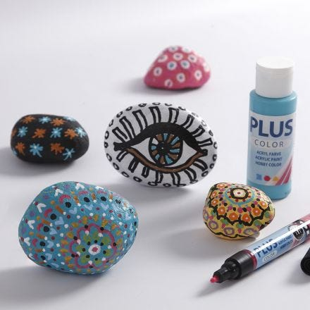Craft Paint on Stones