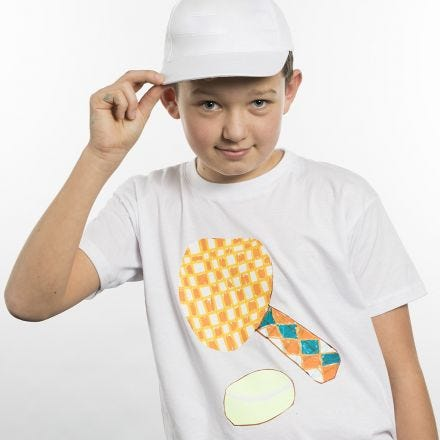 A T-Shirt decorated with a Sports Design on Transfer Paper