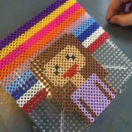 Pixel Art with Nabbi Fuse Beads