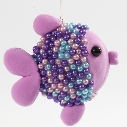 A Fish from a Polystyrene UFO, Silk Clay and Pearl Clay