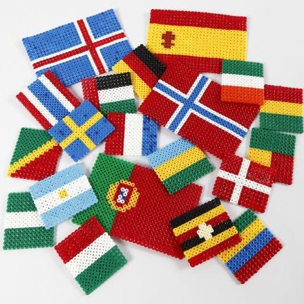 The World's Flags from Nabbi Fuse Beads