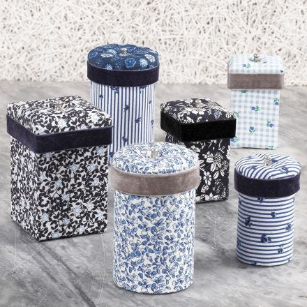 Papier-mâche Boxes decorated with Fabric Decoupage