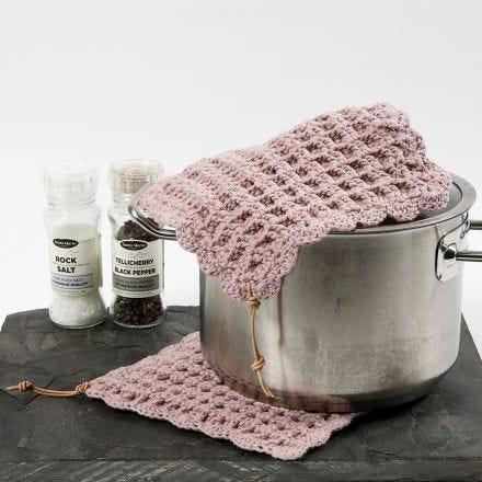 Waffle stitch potholders