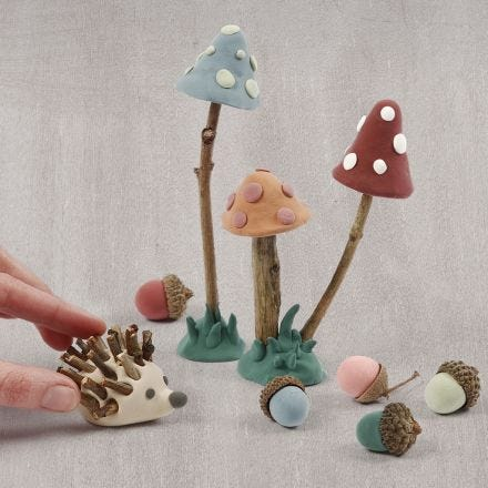 A forest floor from Silk Clay and natural materials