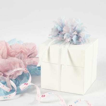 An explosion box for a baby shower