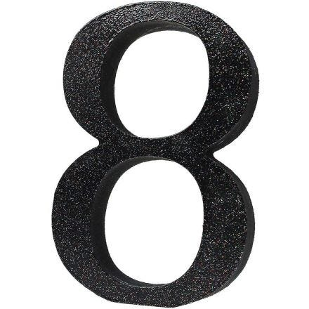A painted Table Number with Glitter
