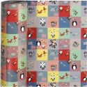 Gift wrap, party, W: 57 cm, 80 g, 150 m/ 1 roll