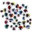 Googly Eyes, not sticky, D: 8-12 mm, 300 asstd./ 1 pack