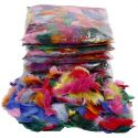 Feathers, size 7-8 cm, assorted colours, 500 g/ 1 pack