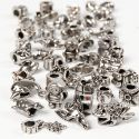 Fashion Links, D: 7-18 mm, hole size 4 mm, Content may vary , antique silver, 100 g/ 1 pack