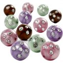 Plastic Beads, D: 12 mm, hole size 1,5 mm, 30 g/ 1 pack