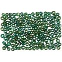 Rocaille Seed Beads, D: 3 mm, size 8/0 , hole size 0,6-1,0 mm, green oil, 500 g/ 1 pack