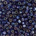 Rocaille Seed Beads, D: 4 mm, size 6/0 , hole size 0,9-1,2 mm, blue oil, 25 g/ 1 pack