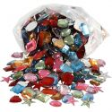 Rhinestones, size 15-17 mm, assorted colours, 210 g/ 1 pack