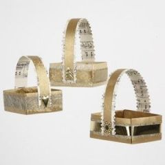 Baskets made from Gold Paper