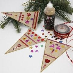 Bunting with Sequins and Rhinestone