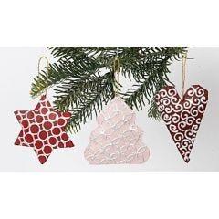 Papier-Mâché Christmas Hanging Decorations