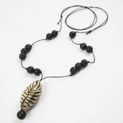 A Necklace with a Buffalo Horn Bead