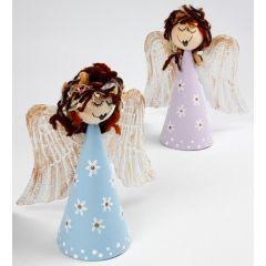 Angels on Papier-Mâché Cones
