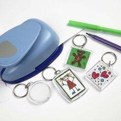 Plastic Key Rings with Drawings