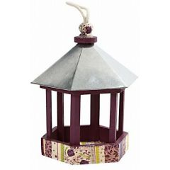 Bird table with zinc roof