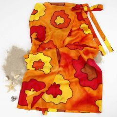 A Silk Sarong painted with Silk Paint