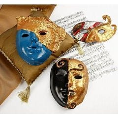Rococo Masks with Art Metal Gold