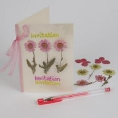 A Laminated Flower Card