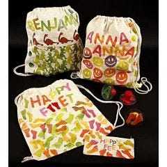 Shoe Bags and Pencil Cases with Stamp Printing