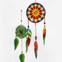 A Wind Chime in Shrink Plastic Sheets