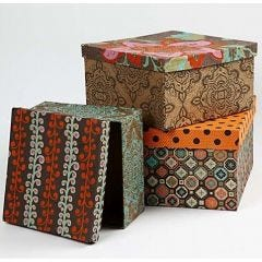 Covered Hat Boxes