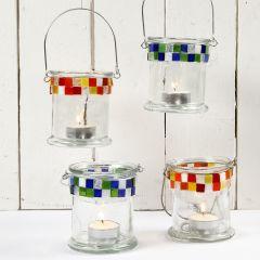 Glass Lanterns with Mosaic
