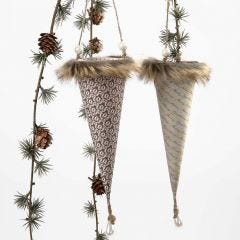 A Cone with Faux Fur