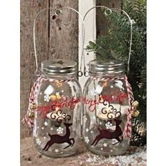 A Glass Lantern with Ceramic Paint
