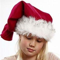 A Santa Hat with a Faux Fur Edge