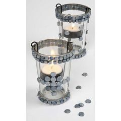 Candle Holders with Mosaic