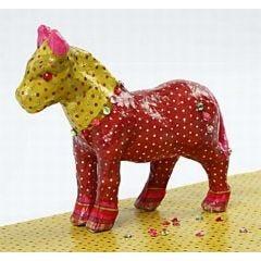 A Papier-Mâché Horse with Decoupage