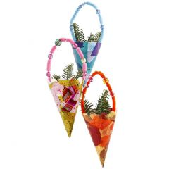 Cones with Decoupage