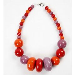 A Necklace with Mega Ceramic Beads
