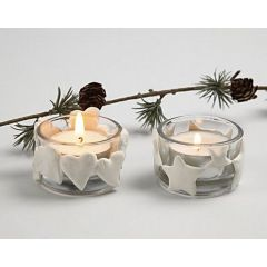 Christmas Tea Light Candle Holders with Silk Clay