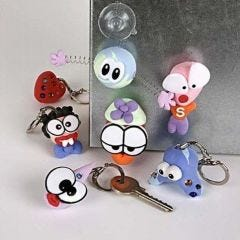 Keyring Fobs and Coils with Silk Clay