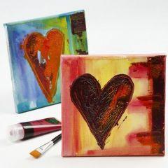 An Art Canvas with a Crackling Heart