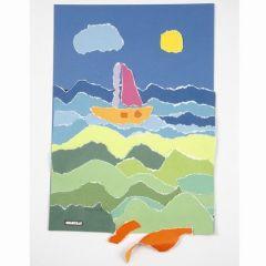 A Color Bar Paper Collage