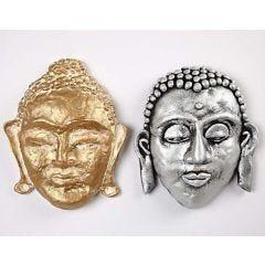 Silk Clay on a Papier-Mâché Face Mask