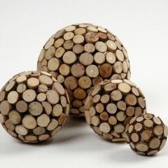 Polystyrene Balls with Wooden Discs