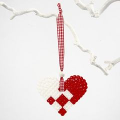 A Hanging Bead Heart Decoration