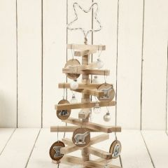 A Christmas Tree with Wooden Sticks