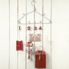 Metal Hearts in an Advents Calendar