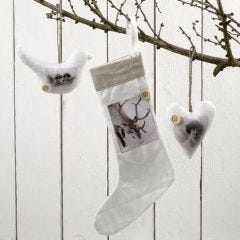 Fabric Hanging Decorations with Decoupage